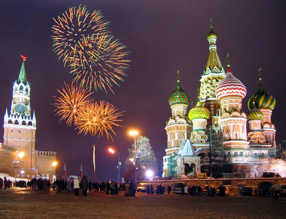 На новый год по россии